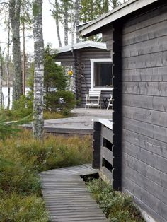 mökki arkistot - At Maria's Taste Of Nature, Cottage Design, Cottage Living, Cabins In The Woods, Country Style, My Dream Home, Beautiful Homes, Beach House, Outdoor Living
