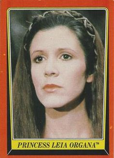 1983 Topps Return Of The Jedi Princess Leia Organa Star Wars Luke, Star Wars Princess Leia, Disney Cards, Title Card, Carrie Fisher, You Are The Father, Tv, Trading Cards, Childhood Memories