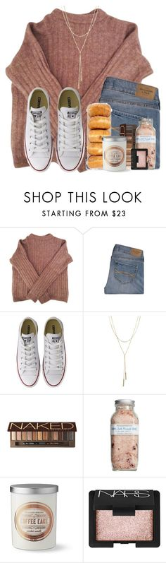 """""""Just made cookies """" by lindonhaley ❤ liked on Polyvore featuring Acne Studios, Abercrombie & Fitch, Converse, Bloomingdale's, Urban Decay, Farmaesthetics, Williams-Sonoma and NARS Cosmetics"""