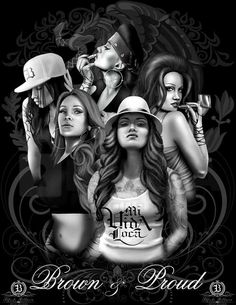 Always Proud to be a Chicana Latina😁 Arte Cholo, Cholo Art, Chicano Art Tattoos, Chicano Drawings, Chica Chola, Aztecas Art, La Art, Tattoo Studio, Chola Girl