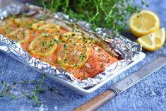 Honningmarineret ørred med citron og timian. Tilberedes på grill eller i ovnen.