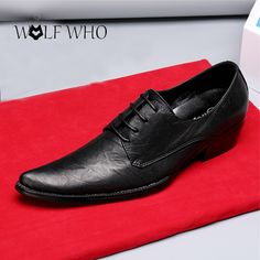 bf2f67662ca0 Genuine Leather Brand Men Derby Shoes Pointed Toe Lace-up Business Formal  Dress Men Oxfords