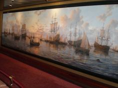 The oil painting in the Explorer's Lounge.