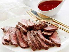 Flat Iron Steak with Red Wine Sauce recipe from Giada De Laurentiis via Food Network