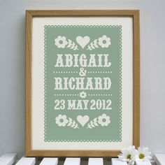 Personalised Wedding Gift by Alexandra Snowdon, via Flickr