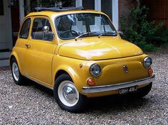 I think i need this...1970 Fiat 500. reminds me of Marie's car in the Bourne films