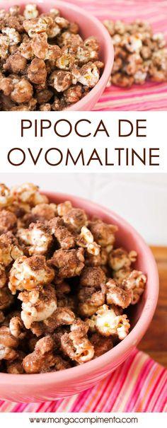 Pipoca de Ovomaltine - para comer assistindo um filme comédia romântica! #receita #doces #pipoca