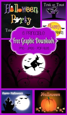 3 New FREE Halloween Graphics! Plus Printable Files! #halloween #freeprintables