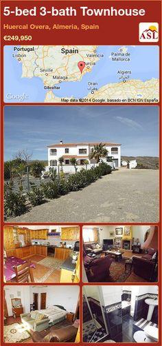5-bed 3-bath Townhouse in Huercal Overa, Almeria, Spain ►€249,950 #PropertyForSaleInSpain