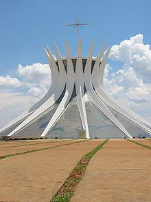 The Cathedral Of Brasilia Is Designed By The Famous Architect Oscar Ribeiro  De Almeida Niemeyer Soares Filho.