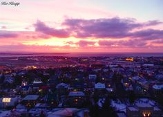 A gorgeous sunset in Reykjavik