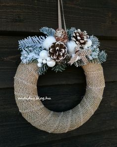 Christmas Wreaths, Xmas, Burlap Wreath, Decorations, Holiday Decor, Etsy, Home Decor, Decoration Home, Room Decor