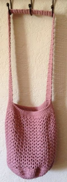 Rose Pink Mesh Market Tote Bag by SpiderCreations on Etsy, $15.00