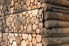Just a stack of wood? Look closer..    Shed Hans Liberg by artist Piet Heineek (NL)