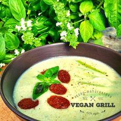 Cukkinikrémleves Vegan Grilling, Pudding, Desserts, Food, Tailgate Desserts, Deserts, Custard Pudding, Essen, Puddings