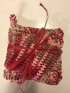 English Rose Garden Trivet and Dishcloth Set 100% by jabcrochet