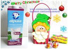 Dulceros navideños en foami reciclando cajas de leche ~ cositasconmesh