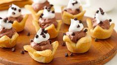 Mini French Silk Crescent Pies