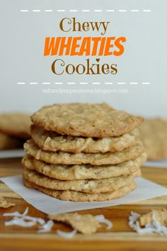 Salt and Pepper Moms: Chewy Wheaties Cookies