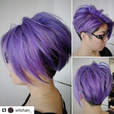 50 Inspiring Lavender Hair Color Ideas — Provence in Your Locks Lavender Hair Colors, Lilac Hair, Hair Color Purple, Short Purple Hair, Lavender Ideas, Lavender Nails, Violet Hair, Short Hair Cuts, Short Hair Styles