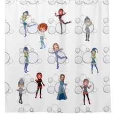 Little Friends Kids Shower Curtain