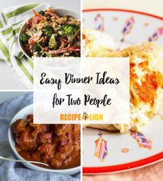 These tasty dinner for two recipes are perfect for weeknights or any night! Dinner For Two, Dinner Ideas, Tasty, Yummy Food, Best Dinner Recipes, Meals For Two, Ground Beef Recipes, Creative Food, Chicken Recipes