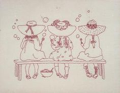Redwork Embroidery Pattern Soapbox Derby 1 Yard Muslin Cute   eBay