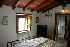 La Dépendance max 2 pers.     Once used as a chestnut drying room, the annexe comprises:        one room with king size bed and mini fridge        bathroom with hair dryer,        own entrance        centrally heated and comes with parking facilities.