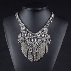 Cheap jewelry box necklace, Buy Quality necklace jewelry set directly from China jewelry handcuff necklace Suppliers: Bijoux Colliers Women 2015 Colar Vintage Tassel Necklace Retro Za Boho Choker Necklace Jewelry Eba Handcuff Necklace, Necklace Box, Tassel Necklace, Pendant Necklace, Cheap Jewelry Boxes, Jewelry Sets, Silver Necklaces, Jewelry Necklaces, Chokers