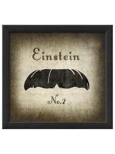 Einstein Moustache Print - man cave art