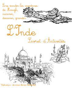 Livret d'activités sur l'Inde : activités sur le livre de la jungle, lecture niveau CP, marque-page, recette, etc