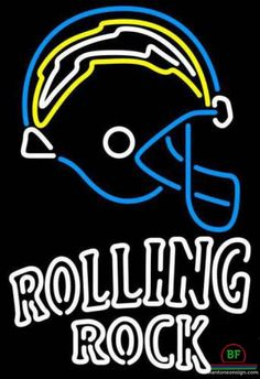 Rolling Rock San Diego Chargers Neon Sign NFL Teams Neon Light