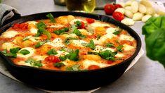 Kochvideo zum einfach nachkochen: Wer mag kann die Gnocchi für dieses Rezept natürlich gerne noch selbst aus Kartoffelresten zubereiten. Mit gekauften Gnocchis