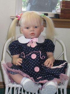 luluzinha kids ❤ bonecas - reborn doll- love those pig tails!!
