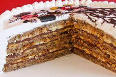Recepti za torte i ideje za rođendanske torte Torte Recepti, Kolaci I Torte, Bakery Recipes, Cookie Recipes, Dessert Recipes, Torte Cake, Croatian Recipes, Just Cakes, Cake Cookies