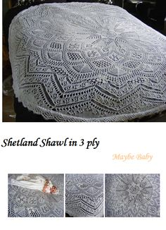 Shawls in 3ply - MAYBE BABY DESIGNS Knitting Patterns for Baby
