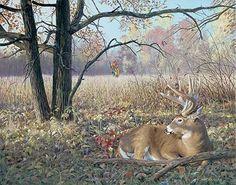 Hold Tight-Deer Painting by Jim Kasper Whitetail Deer Pictures, Deer Photos, Deer Pics, Wildlife Paintings, Wildlife Art, Deer Paintings, Original Paintings, Hunting Art, Deer Hunting