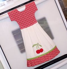 Cherry Jubilee Dish Towel Dress.