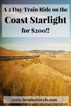 The Coast Starlight is an inexpensive train trip between Los Angeles and Seattle, that takes just under 2 days, one way. Train Travel, Travel Usa, Travel Tips, Budget Travel, Travel Guides, Travel Hacks, Travel Packing, Travel Essentials, Europe Budget