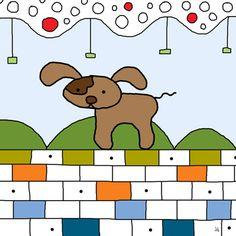 Brown Dog Canvas Art