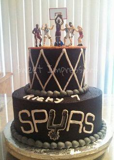 Amazing 29 Best Spurs Cake Images Spurs Cake Cake San Antonio Spurs Birthday Cards Printable Trancafe Filternl