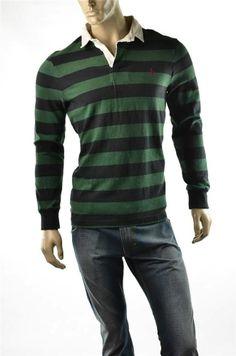 Ralph Lauren Rugby Polo Shirts NWT Mens Custom Pullover L/S 3 button Shirt Sz L
