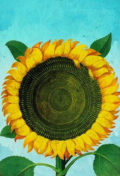 Girasol girasoles imprimir arte botánico impresión por WeLoveCMYK