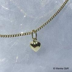 Herzchenanhänger Gold Gold Necklace, Jewelry, Fashion, Chain, Jewellery Making, Moda, Gold Pendant Necklace, Jewelery, Jewlery