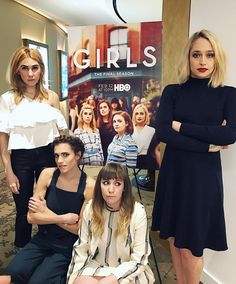 Haute hipsters: (left to right) Zosia Mamet, Allison Williams, Lena Dunham and Jemima Kirke cut chic figures while promoting the final season of their HBO comedy Jessa Girls, Girls Hbo, Jemima Kirke Art, Lena Dunham Girls, Cool Outfits, Fashion Outfits, Star Wars, Blonde Ombre, Blonde Hair