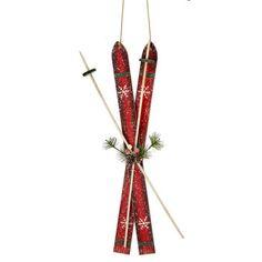 Ski rouges décoratifs 17,5''