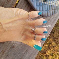 Image may contain: one or more people Beautiful Toes, Pretty Toes, Toe Nail Art, Toe Nails, Long Toenails, Blue Toes, Pedicure Designs, Big Toe, Sexy Toes