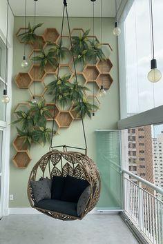 Small Balcony Design, Small Balcony Garden, Small Balcony Decor, Indoor Balcony, House Plants Decor, Plant Decor, Home Room Design, House Design, Garden Design