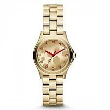 Marc Jacobs Gold Tone macintosh Red Watch