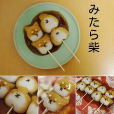 Is it bad that I would eat it because of the dog ? Japanese Food Art, Japanese Sweets, Cute Desserts, Dessert Recipes, Cute Food, Yummy Food, Kawaii Dessert, Cute Bento, Aesthetic Food